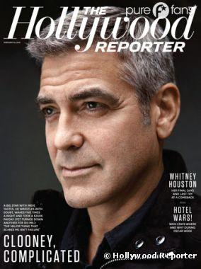 George Clooney, en couverture du dernier numéro d'Hollywood Reporter