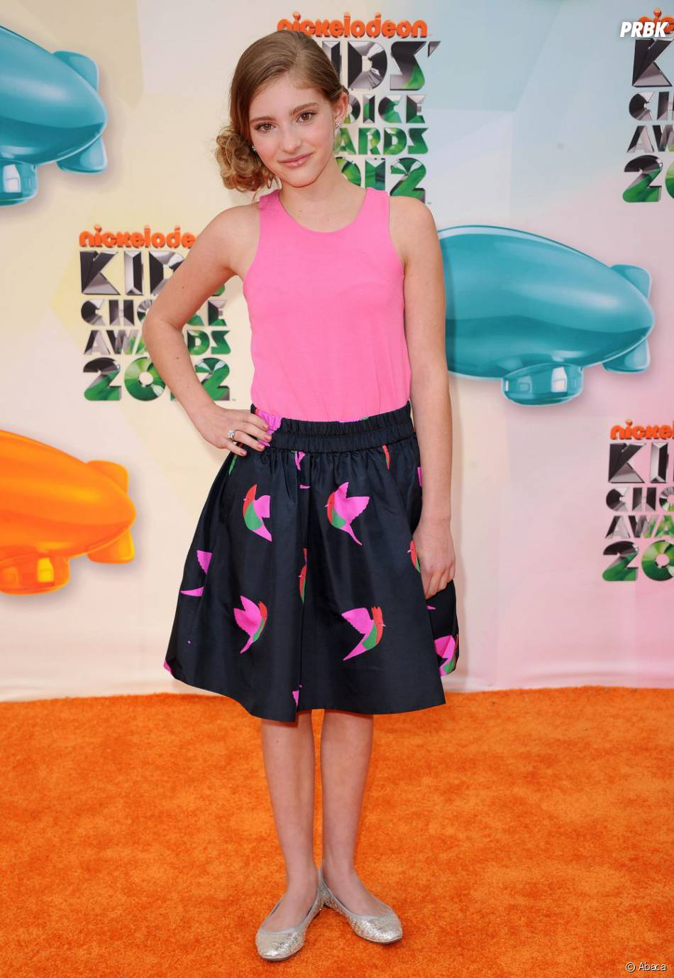 Willow Shields au top sur le tapis orange des Kids' Choice Awards 2012