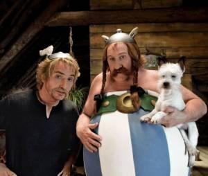 Edouard Baer et Gérard Depardieu en Astérix et Obélix