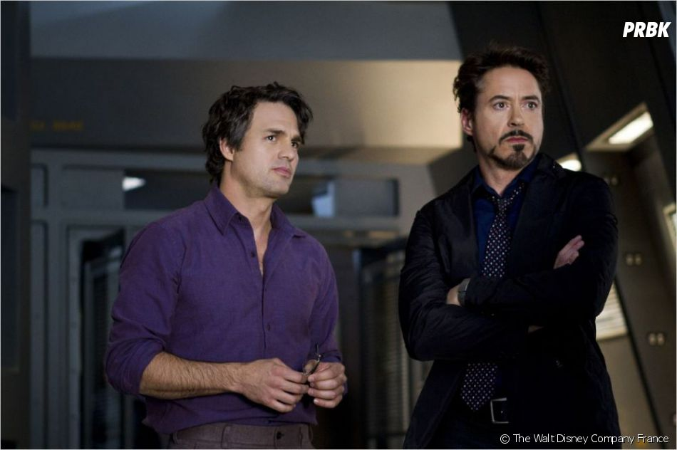 Mark Ruffalo et Robert Downey Jr dans Avengers