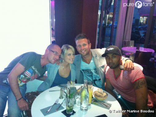 Marine aux côtés de Benjamin, Marc et Rudy