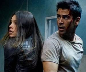 Jessica Biel avec Colin Farrell dans Total Recall