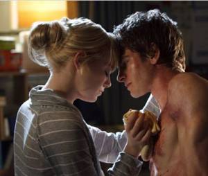 Andrew Garfield et Emma Stone dans The Amazing Spider-Man