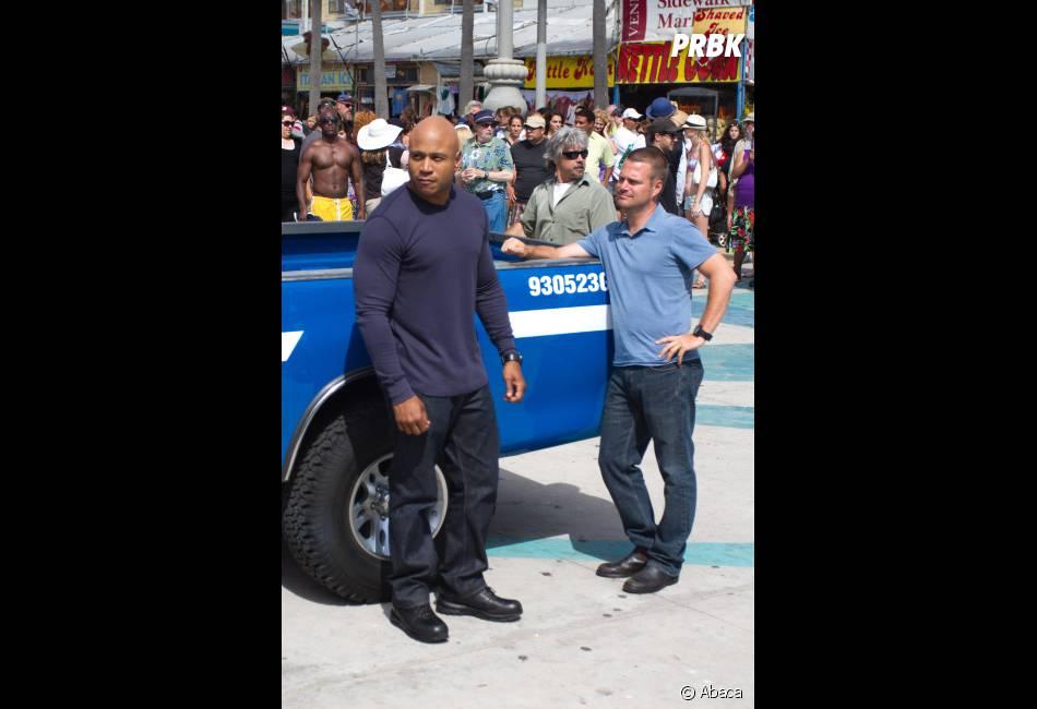 Les acteurs d'NCIS Los Angeles avant leur scène