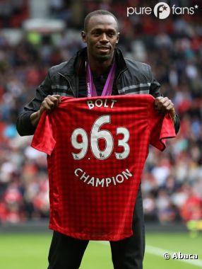 Usain Bolt rêve de jouer pour Manchester United