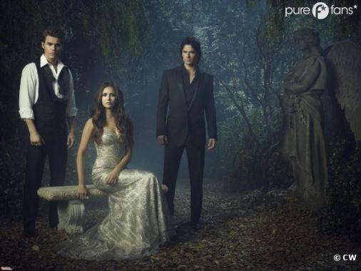 Première photo du trio : Stefan - Elena - Damon
