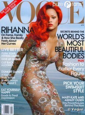 Rihanna de nouveau en couverture du Vogue Américain