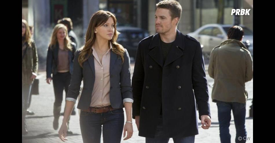 Oliver et Laurel dans Arrow