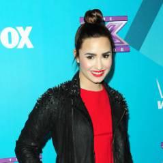 Demi Lovato : brune et canon pour une soirée X Factor (PHOTOS)