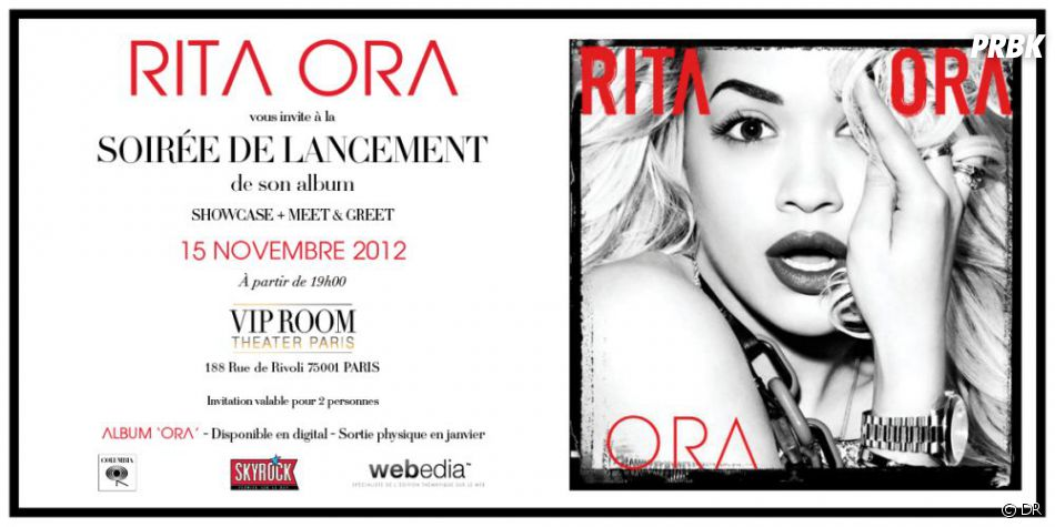 Rita Ora sera en showcase privé au VIP Room !