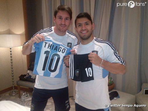 Sergio Agüero offre un cadeau de naissance à Lionel Messi