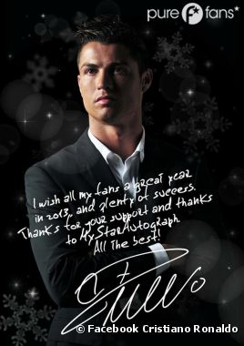 cristiano ronaldo il s 39 offre en cadeau de no l pour ses fans purebreak. Black Bedroom Furniture Sets. Home Design Ideas
