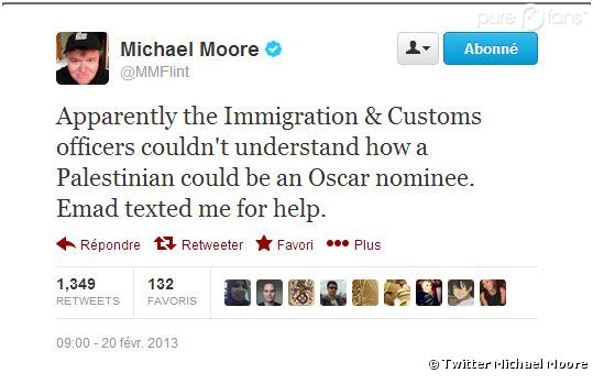 Michael Moore défend Emad Burnat sur Twitter