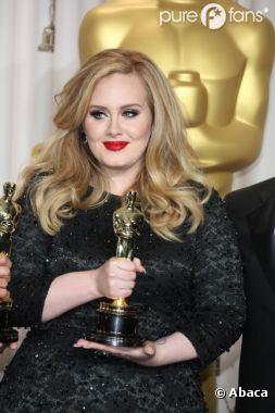 Adele a fait une drôle de révélation aux Oscars 2013