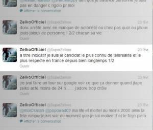 Zelko se lâche sur son compte Twitter