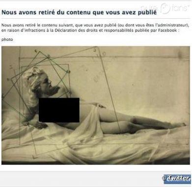 Le jeu de Paume a vu son compte Facebook bloqué pour une malheureuse photo de nu.