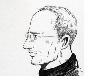 Portrait de Steve Jobs pour le possible manga