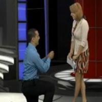 Une demande en mariage en direct...avec un prompteur