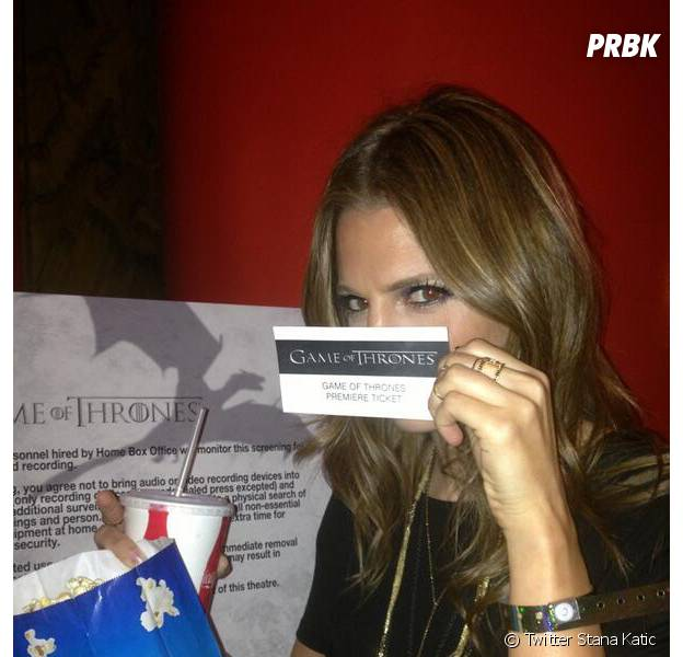 Stana Katic adore Game of Thrones