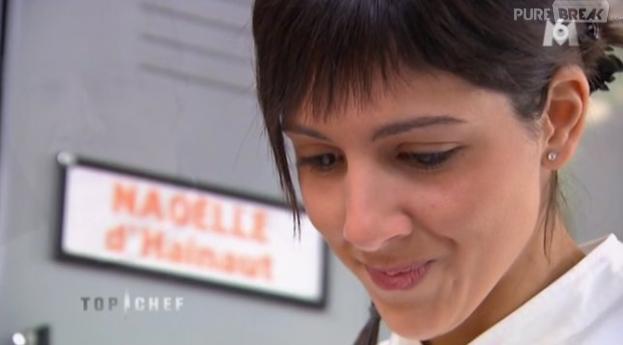 Naoëlle D'Hainaut est très émue à la lecture de la lettre de son mentor dans Top Chef 2013.