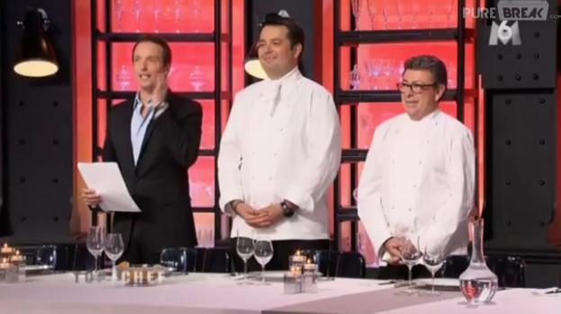 La deuxième épreuve de Top Chef 2013 consistait à contenter un jury de huit chefs triplement étoilés avec un menu gastronomique mais économique.