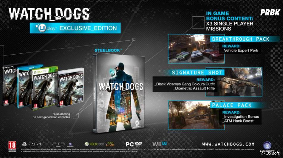 Les détails de l'édition Uplay de Watch Dogs