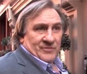 Gérard Depardieu donne une interview au Petit Journal sur le tournage du film inspiré de DSK