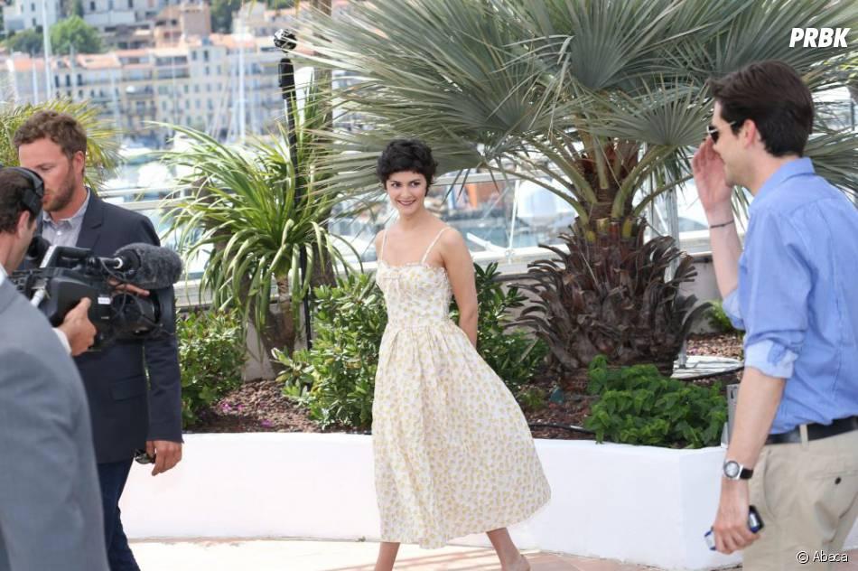 Audrey Tautou tout sourire à J-1 du festival de Cannes 2013