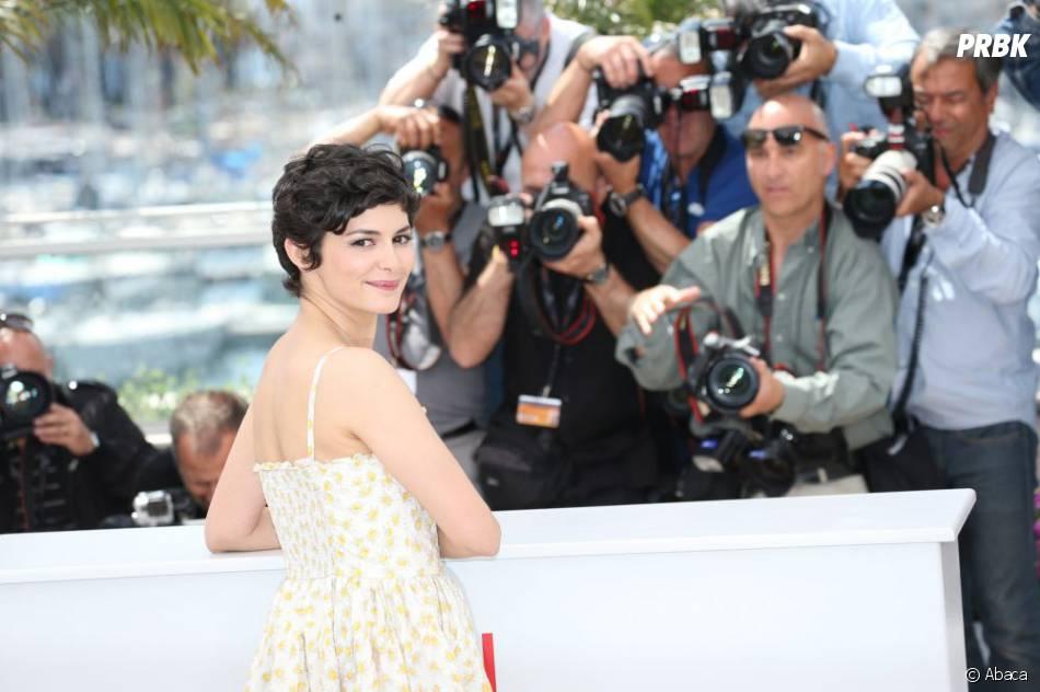 Audrey Tautou belle et naturelle pendant son photocall de Cannes 2013