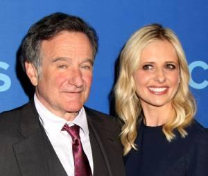Sarah Michelle Gellar et Robin Williams aux upfronts de CBS le 15 mai 2013