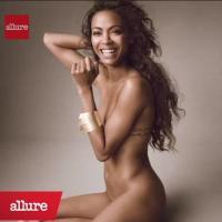 Zoe Saldana nue pour Allure magazine...et à la maison : une vraie nudiste