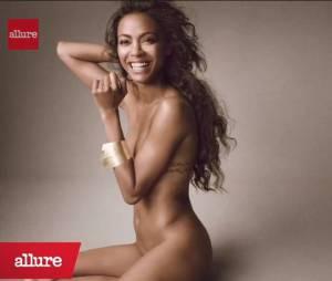 Zoe Saldana pose nue pour le numéro de juin 2013 du magazine Allure