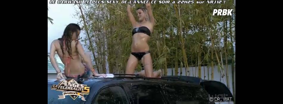 Les Anges 5 : Capucine et Aurélie en mode car wash sur NRJ12.