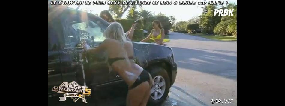 Les Anges 5 : les filles sexy en mode car wash sur NRJ12.