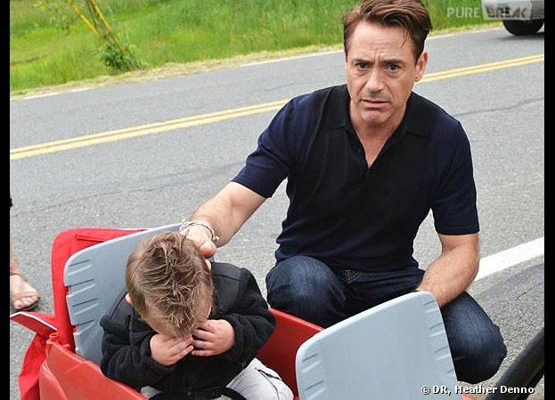 Jaxson Denno en larmes face à Robert Downey Jr