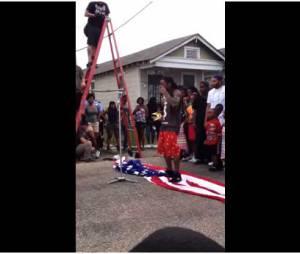 Lil Wayne piétine le drapeau américain