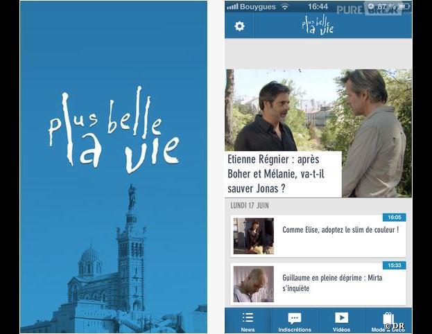 L'application Plus Belle La Vie est disponible sur iOS
