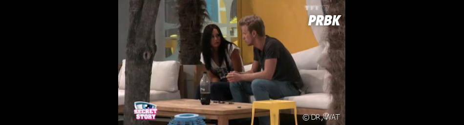 Secret Story 7 : Guillaume rapporte à Emilie le bisou de Vincent et Alexia.