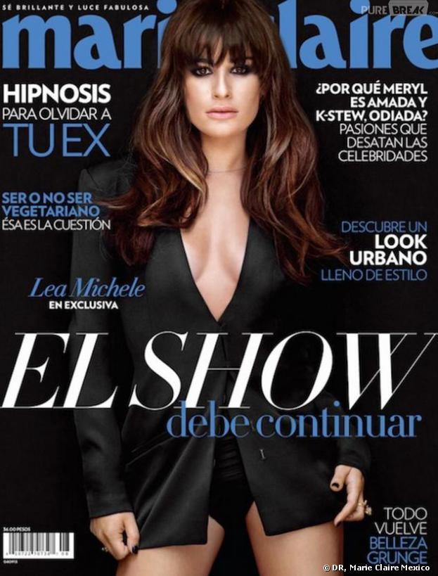 Lea Michele fait la Une de l'édition mexicaine de Marie-Claire pour le mois d'août 2013.
