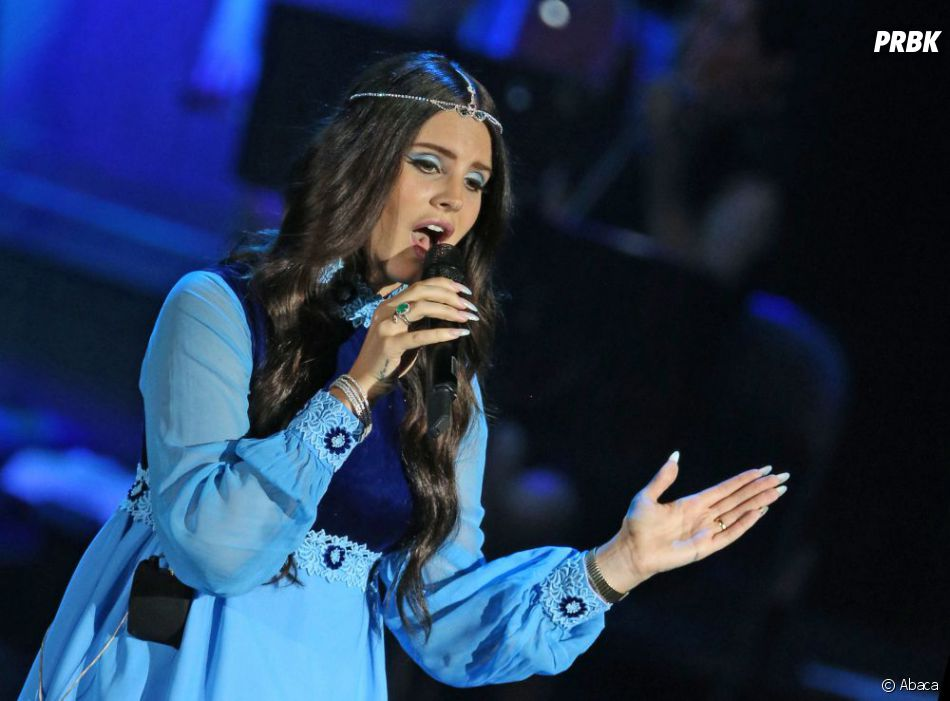 Lana Del Rey sur scène à Moscou, le 15 juillet 2013