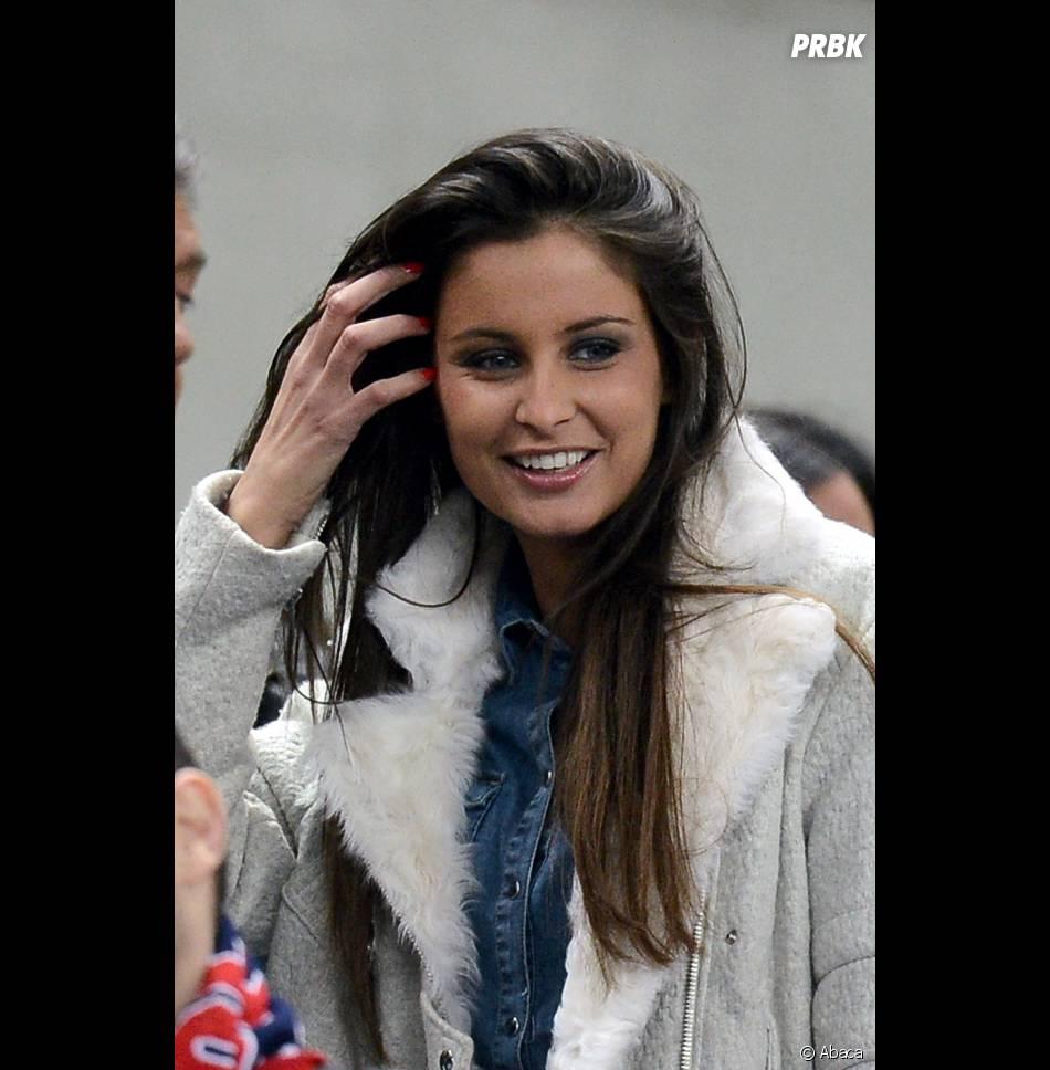 Malika Ménard au Stade de France pour le match France VS Espagne, le 26 mars 2013