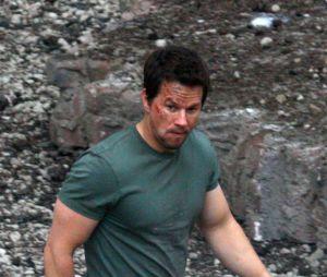 Mark Wahlberg sur le tournage de Transformers 4, le 31 juillet 2013 à Detroit