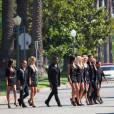 Hollywood Girls 3 : toute l'équipe en tournage à Los Angeles le 3 août 2013.