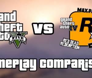 GTA 5 : le gameplay du jeu comparé en vidéo à celui d'autres productions de Rockstar Games
