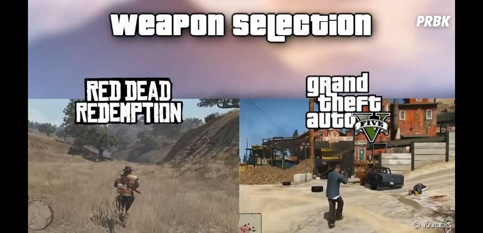 GTA 5 : la roue de sélection des armes empruntée à Red Dead Redemption ?