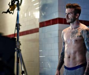 David Beckham, sur le shooting de la prochaine campagne H&M Bodywear automne-hiver 2013