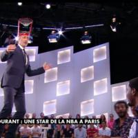 "Le Grand Journal : big ""air ball"" pour l'interview de Kevin Durant par de Caunes"