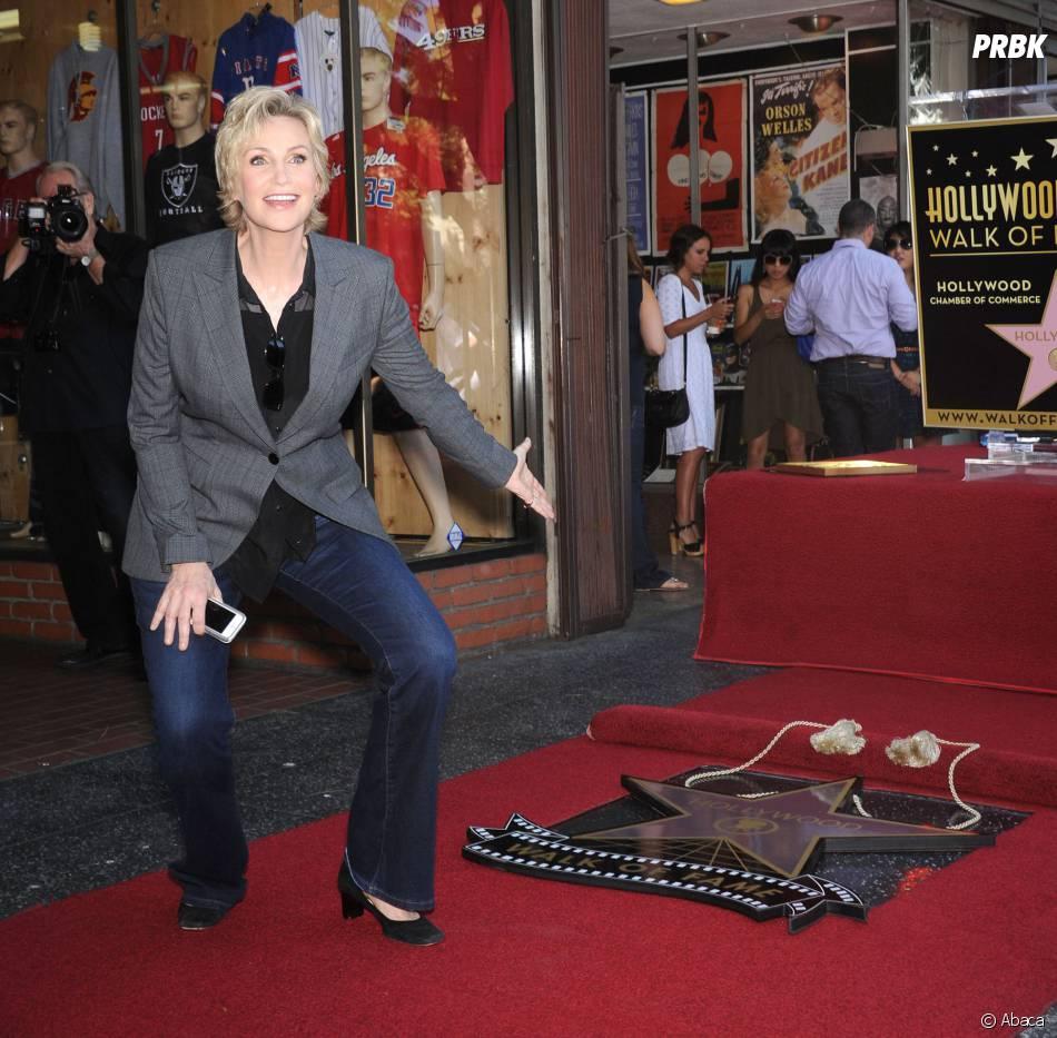Jane Lynch sur le Walk of Fame le 4 septembre 2013