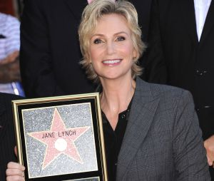 Jane Lynch et son étoile sur le Walk of Fame le 4 septembre 2013