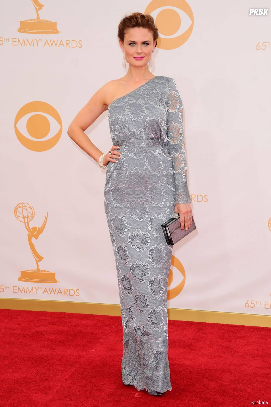 Emily Deschanel aux Emmy Awards 2013 le 22 septembre 2013 à Los Angeles